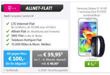 Samsung Galaxy S5 bei Sparhandy für ein Euro