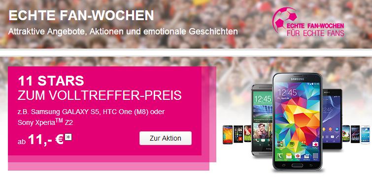 Samsung Galaxy S5 ab 11 Euro bei Telekom erhätlich