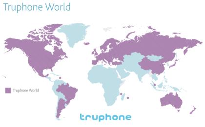 Länder auf der Karte wo Truphone funktioniert