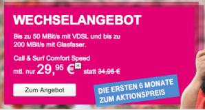 Neue VDSL- und DSL-Tarife der Telekom mit Allnet-Flatrate für zu Hause Option
