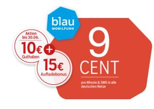 Prepaid Tarif von Blau