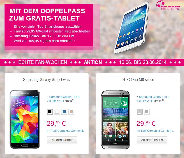 WM Aktion von Telekom - Tablet Gratis