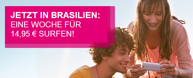 Roaming in Brasilien von Telekom