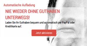MeinOrtel Kundenbereich - Guthaben Automatisch Aufladen Aktivieren
