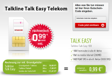 Talkline Talk Easy Telekom von Groupon und Modeo für 99 Cent