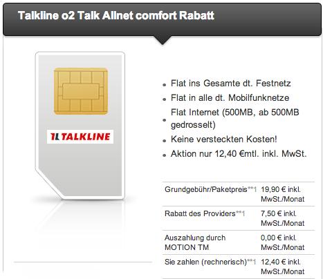 Talkline Angebot