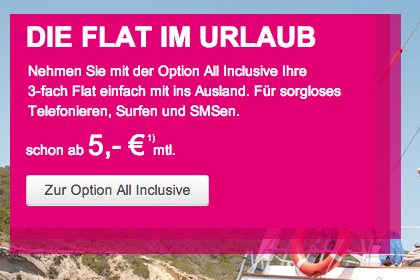 All Inclusive Option für Telekom Kunden