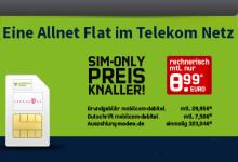 Allnet-Flatrate im Telekom Netz nur 8,99 Euro Modeo Angebot