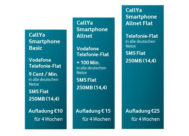 Neue CallYa-Tarife für Prepaid-Kunden