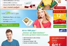 WM Aktion von DeutschlandSIM, winSIM und helloMobil