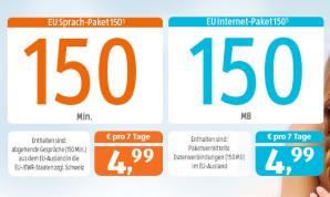 ALDI TALK: EU Sprach-Paket mit 30 Minuten und EU Internet-Paket mit 30 MB mehr als zuvor