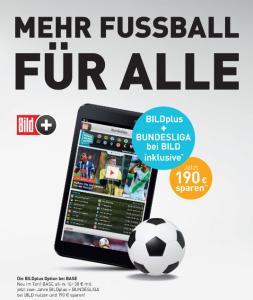 BILDplus und BILD Bundesliga für BASE all-in Kunden kostenlos