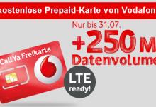 CallYa Freikarte mit kostenlosem LTE Interenet