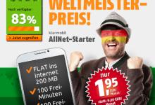 Crash-Tarife AllNet Starter für 1,95 Euro
