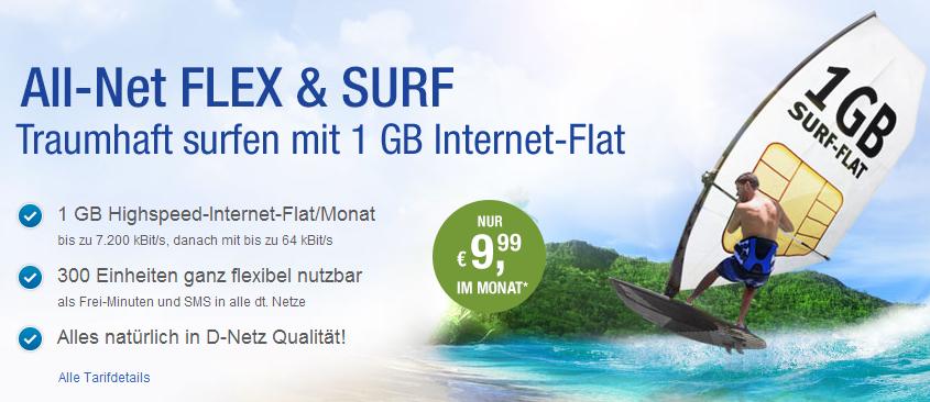 Smartphone Tarif mit 1 GB Daten-Flat im Vodafone Netz