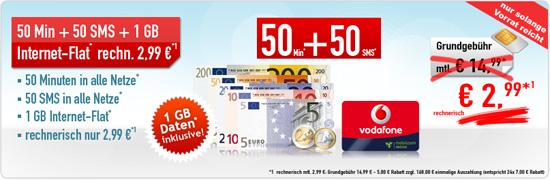 1 GB Internet-Flatrate für 2,99 Euro von Handybude