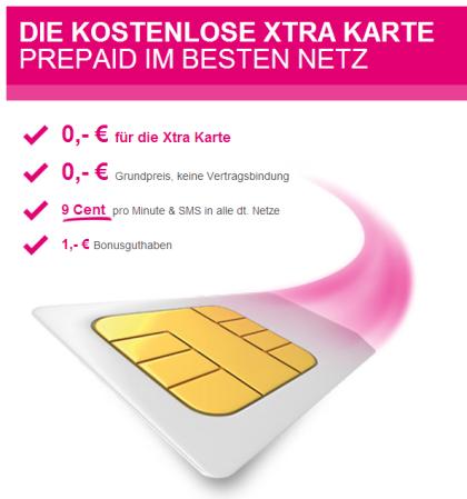 Xtra Frei-Karte von Telekom