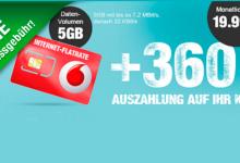 5 GB Internet-Flat von Vodafone und LogiTel unter 5 Euro