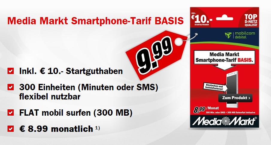 Media Markt Prepaid Tarif mit Smartphone Option