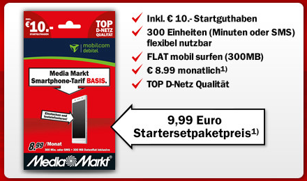 mediamarkt und saturn mit eigenen prepaid tarif im. Black Bedroom Furniture Sets. Home Design Ideas
