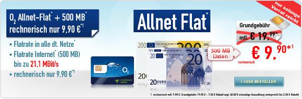 o2 Allnet-Flat für 9 Euro 90 Cent von handybude