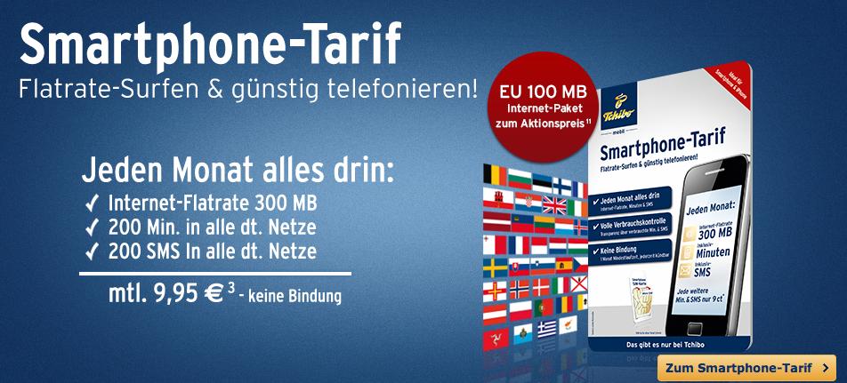 Smartphone-Tarif mit EU Internet Packet für 95 Cent