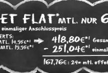 HANDYLiga: Tele2 Allnet Flat mit Internet-Flat für 6,99 Euro