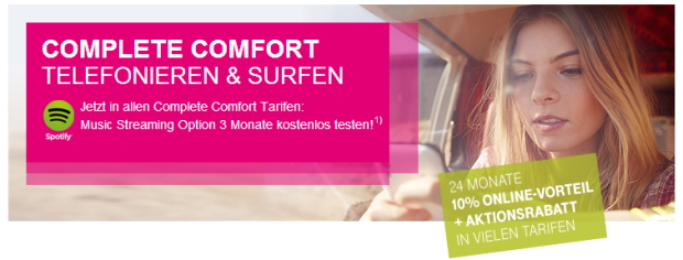 Complete Comfort von Telekom mit 168 Euro Rabatt