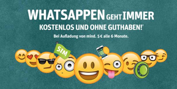 Prepaid SIM-Karte von WhatsApp und E-Plus