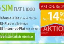 winSIM Allnet-Flat mit 1 GB Internet-Flat