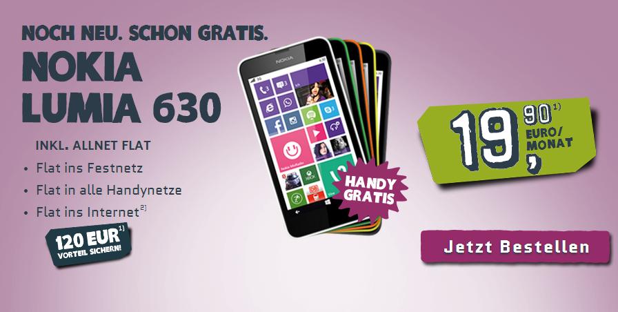 Yourfone: Allnet-Flat mit Nokia Lumia für 19,90 €