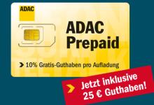 Adac Prepaid mit 25 Guthaben für Rufnummermitnahme