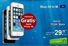 Allnet-Flat mit SMS und Internet-Flat und iPhone 5s für rechnerisch 29,90 Euro