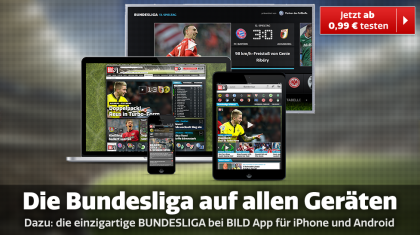 Bundesliga bei BILD mit BILDPlus für iOS und Android