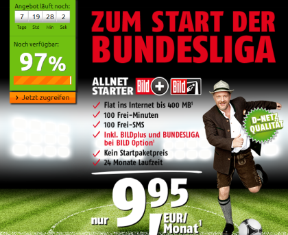 Allnet Starter mt Gratis Option Bundesliga