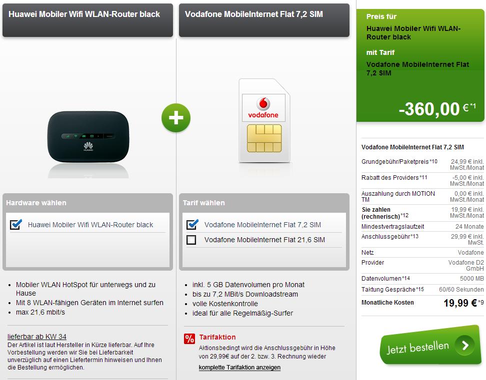 5 GB oder 3 GB für 3,16 Euro von Modeo