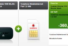 Vodafone Intetent 7,2 für 3,16 Euro mit 5 GB Datenvolumen
