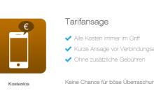 Tarifansage – neue Feature von simquadrat