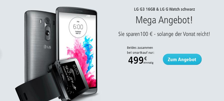 Smartkauf Angebot für LG G3 mit LG G Wat vh