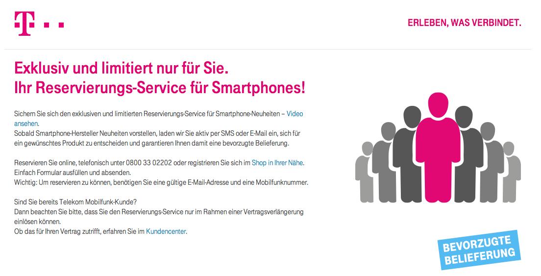 iPhone 6 bei Telekom Reservierung