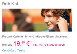 Prepaid-Karte für Kinder bei Telekom