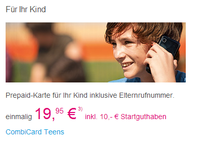 Prepaid-Karte für Kinder von Telekom