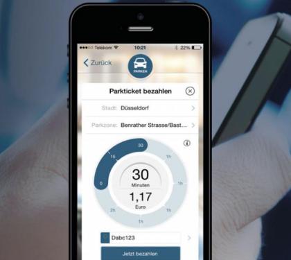 Parkschein per App bezahlen