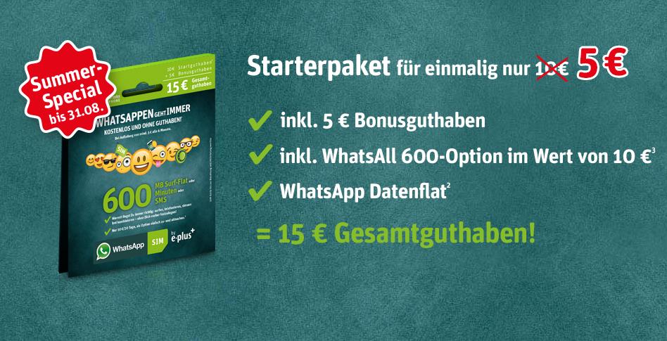 WhatsApp Starterset für 5 Euro