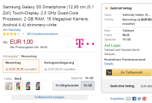 Amazon verkauf Telekom Verträge mit Smartphones zusammen