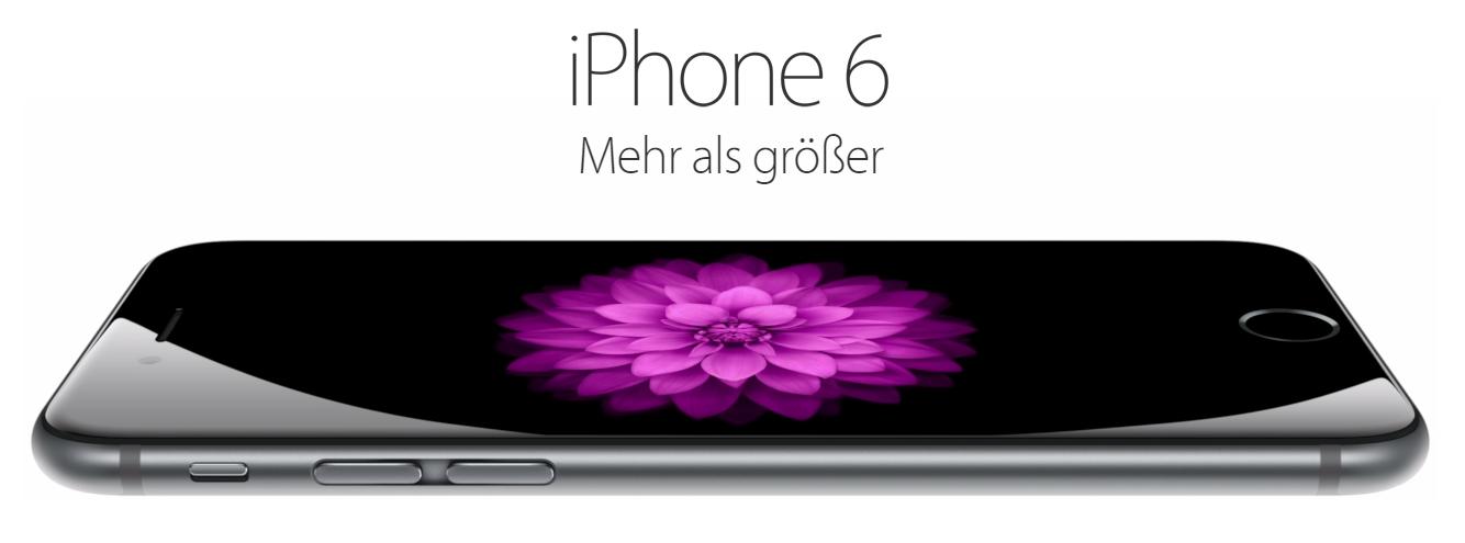 Apple iPhone 6 - Seitlich dargestellt