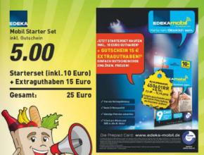 EDEKA mobil: Mit Aktionscode 25 Euro Startguthaben für Prepaid-Karte sichern