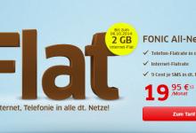 Allnet Flat von Fonic mit 2 GB Daten-Flat statt 500 MB
