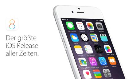 Apple iOS 8 ist released, aktualisieren Sie ihr iPhone und iPad