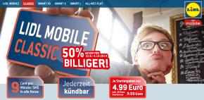 Lidl Mobile: Prepaid Starterset Classic 50% günstiger zu haben